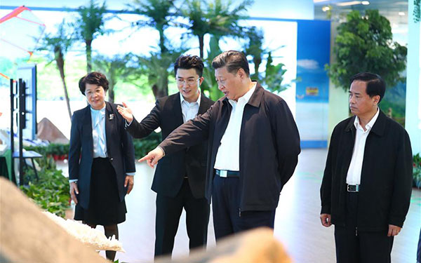 Xi makes inspection tour in Hainan