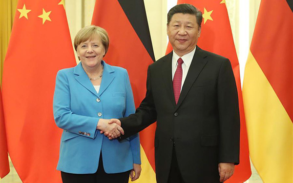 President Xi meets Merkel, calls for higher-level China-Germany ties