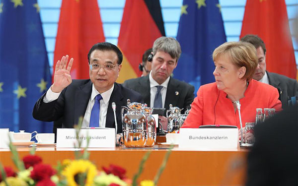 China, Germany agree to oppose protectionism