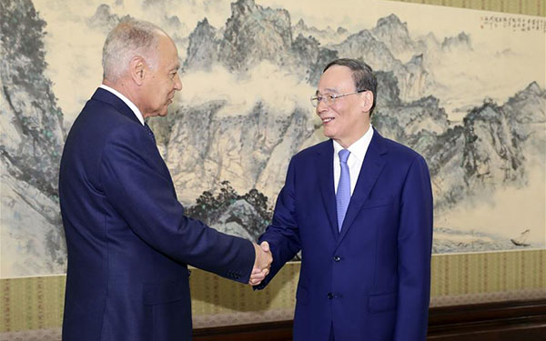 Chinese vice president meets AL chief, Egyptian FM