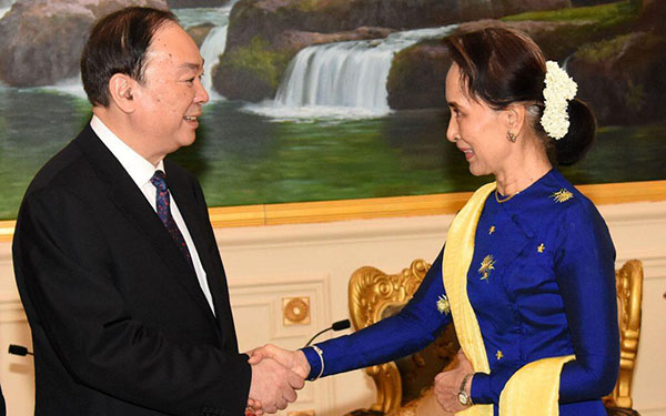 Huang Kunming pledges to strengthen exchanges, cooperation with Myanmar