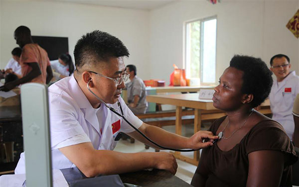 Chinese medical team in Rwanda provide free health care to China-aid project